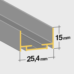 Lower rail 15mm