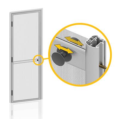 Internal/external closing block