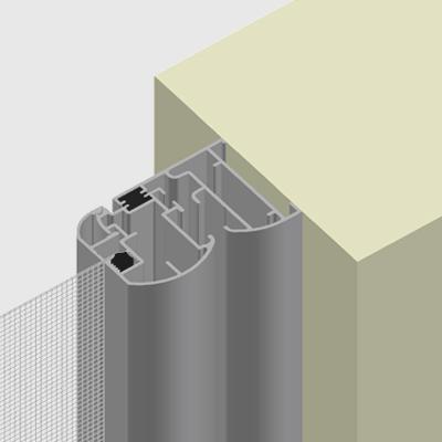 L-shaped frame